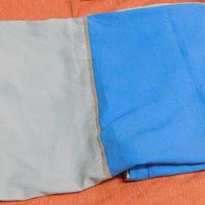 Szürke kék párnahuzat cipzáros