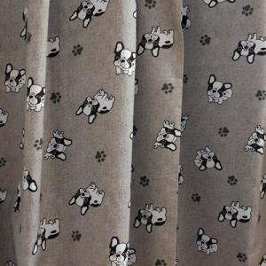 Szürke kutyus gyerek pamut dekor függöny 165x90cm