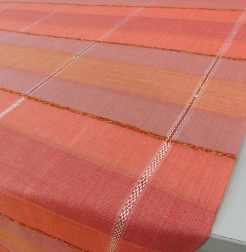 Zöld terra virágos pamut terítő kb:130x130cm