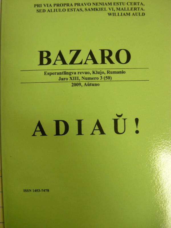 Bazaro -  Adiaŭ!