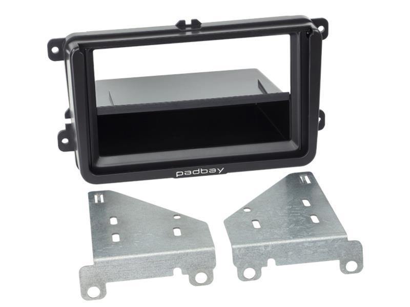 Padbay 2 DIN autórádió keret fiókkal Seat, Skoda, VW fekete 281320-60-1