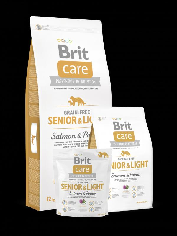 Brit Care Grain-free Senior&Light; Salmon & Potato 12kg