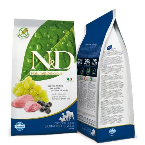 N&D Grain Free Bárány&Áfonya Adult Dog Mini 2,5kg