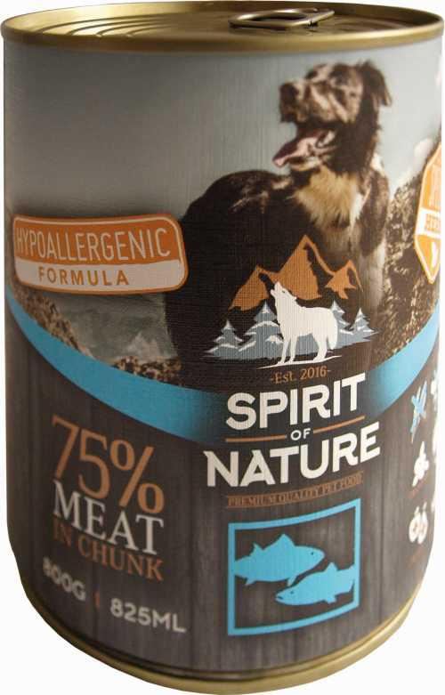 Spirit of Nature Dog konzerv Tonhallal és lazaccal 800gr