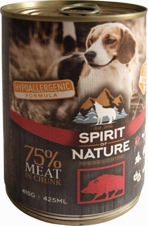 Spirit of Nature Dog konzerv Vaddisznóhússal 415gr