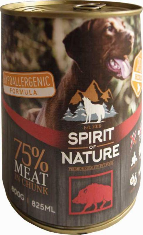 Spirit of Nature Dog konzerv Vaddisznóhússal 800gr