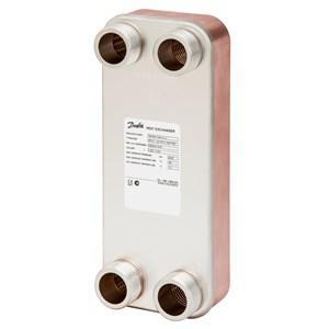 Danfoss Forrasztott hőcserélők, XB12H-1, Vörösréz, Lemezek száma: 100, 25 bar, G 1¼ (004H7567)