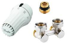 Danfoss radiátor szelep sarok H-idom szett szelepes radiátorokhoz (013G5140)