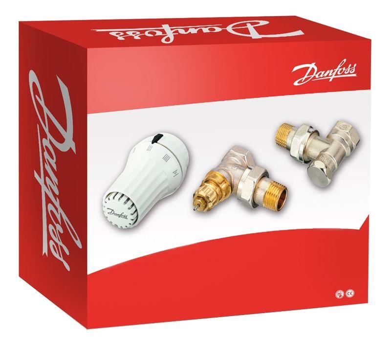 Danfoss radiátor szelep sarok szett 1/2'' (013G5083)
