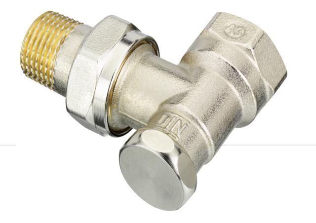 Danfoss RLV-S típusú visszatérő radiátor szelep 3/4'' sarok 003L0125