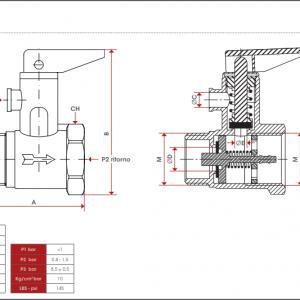 Itap 1/2'' Bojler biztonsági szelep karral nyitási nyomás 8,5 bar