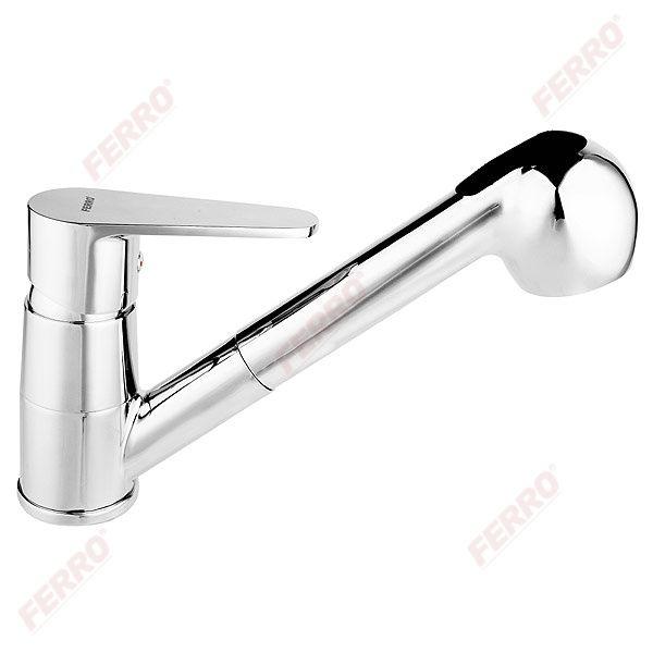 Ferro Algeo Konyhai csaptelep kihúzható zuhanyfejjel (BAG8)