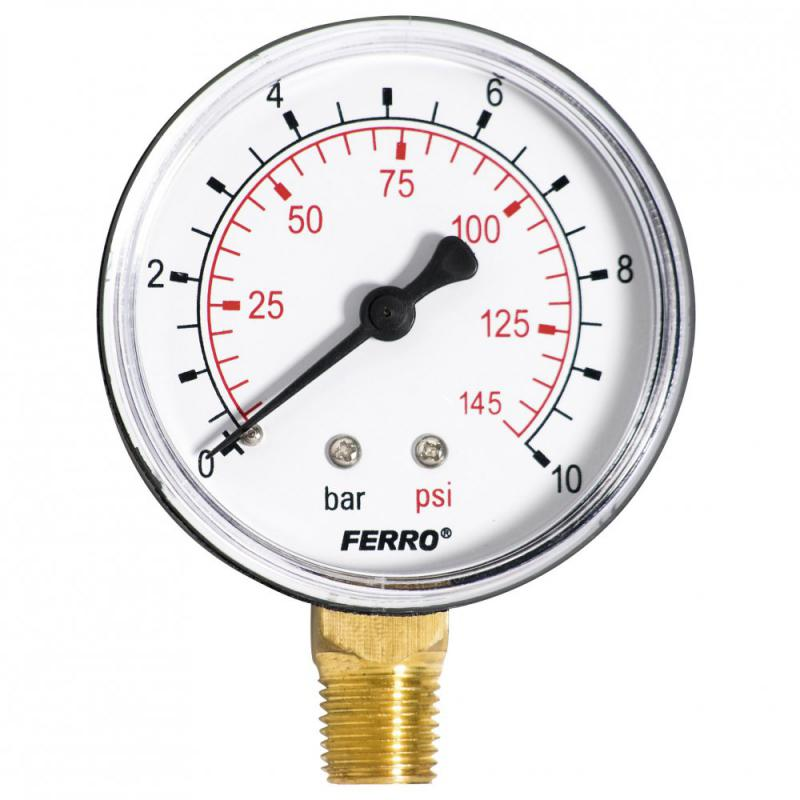 Ferro nyomásmérő alsó csatlakozású 10 bar (M6310R) manométer