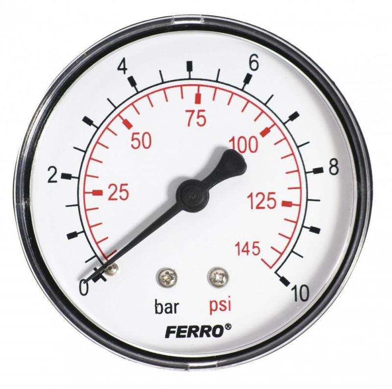Ferro nyomásmérő hátsó csatlakozású 10 bar (M6310A) manométer