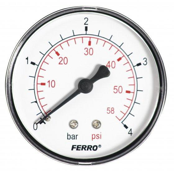 Ferro nyomásmérő hátsó csatlakozású 4 bar (M6304A) manométer