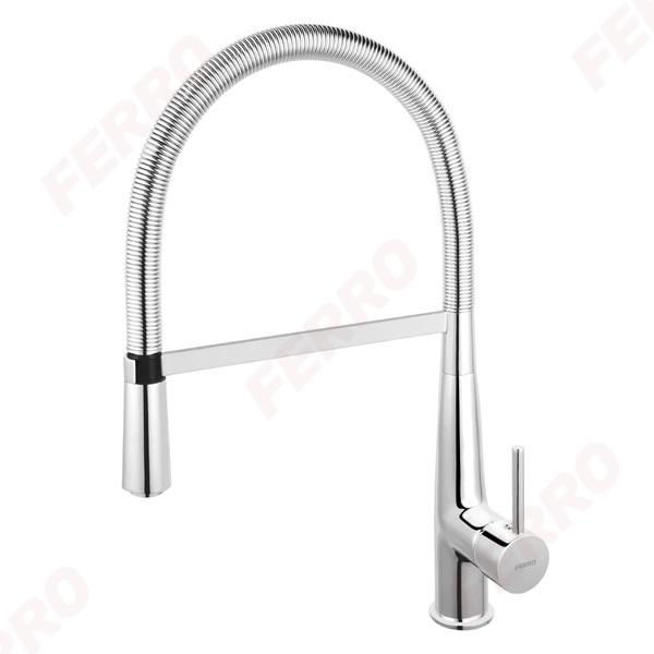 Ferro Sonata konyhai csaptelep kihúzható zuhanyfejjel (BNA4)