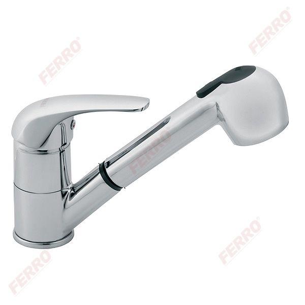 Ferro Vasto álló mosogató csaptelep kihúzható zuhanyfejjel (BVA8)