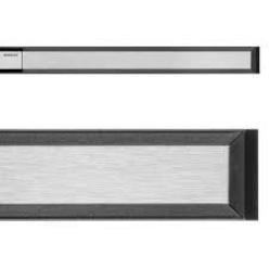 Geberit CleanLine 20 zuhanyfolyóka 30-90 cm, besüllyesztett, fekete/szálcsiszolt (154.450.00.1)