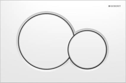 GEBERIT Sigma 01 nyomólap alpin fehér (kétmennyiséges) 115.770.11.5
