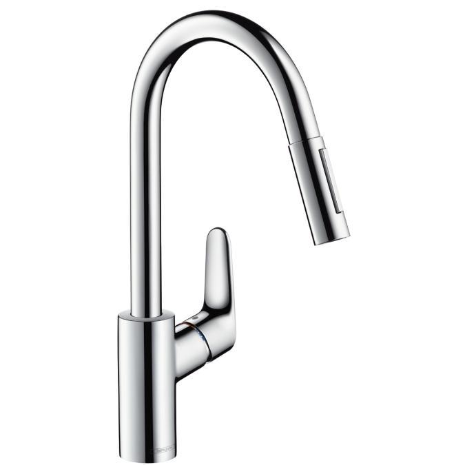 Hansgrohe Focus kihúzható zuhanyfejes konyhai csaptelep (31815000)