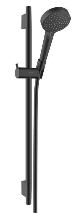 Hansgrohe Vernis Blend zuhanyszett Vario, 65 cm-es zuhanyrúddal matt fekete 26422670