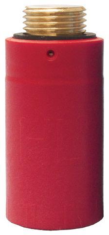 "HL42R.MS Próbadugó 1/2"" sárgaréz menettel (piros) (HL42R.MS)"