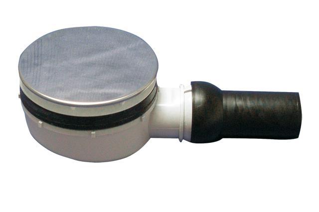 HL521 Szuperalacsony zuhanytálca szifon D90mm lyukmérethez D113mm nemesacél lefolyólappal.(HL521)