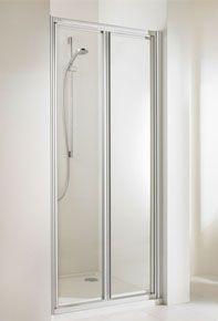 Huppe alpha szögletes  zuhany lengőajtó 100 cm üveg/fehér