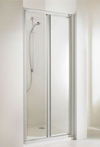 Huppe alpha szögletes zuhany lengőajtó 90 cm üveg/fehér