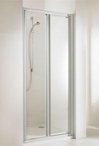 Huppe alpha szögletes zuhany lengőajtó 90 cm üveg/matt