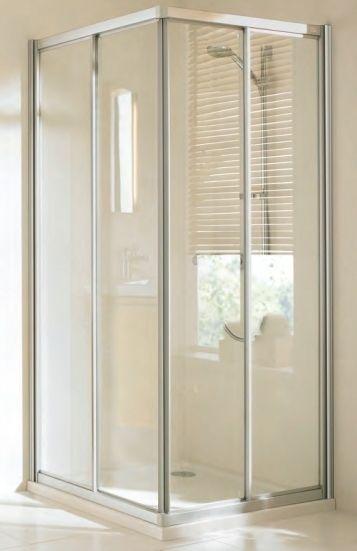 Huppe alpha szögletes zuhanykabin 90x90 plexi/matt