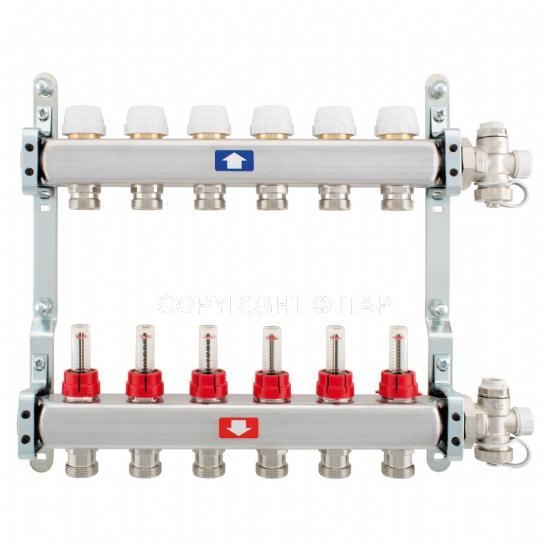 Itap Padlófűtés 1'' x 3/4'' x 11 Osztó-gyűjtő áramlásmérővel
