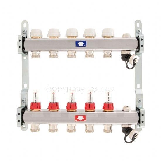 Itap Padlófűtés 1'' x 3/4'' x 2 Osztó-gyűjtő áramlásmérővel