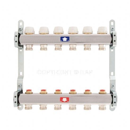 Itap Padlófűtés 1'' x 3/4'' x 6 Osztó-gyűjtő áramlásmérő nélkül