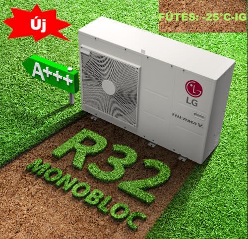LG Therma-V HM091M+ ajándék hőhordozó, Monoblokkos Levegő-víz Hőszivattyú 9 kW