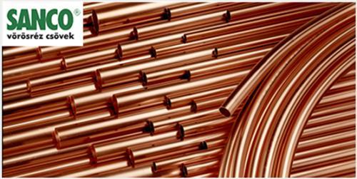 Sanco Ø28×1,5mm. félkemény rézcső