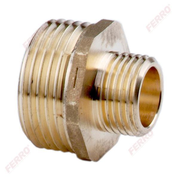 Sárgaréz szűkítő közcsavar KK G1/4 G1/2 (N09Z)