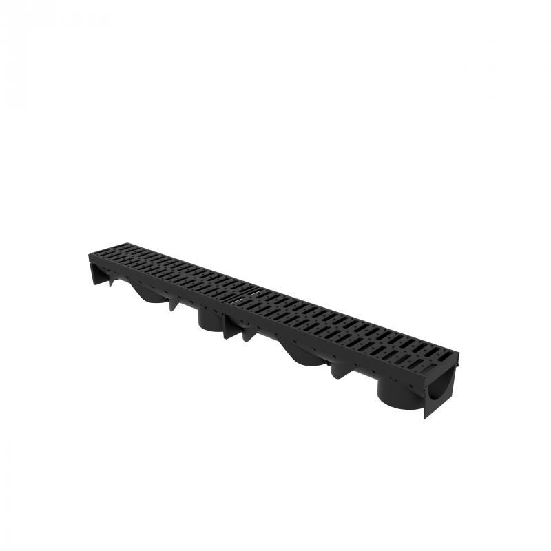 Styron folyóka 1 méter fekete műanyag ráccsal (STY-900-M)