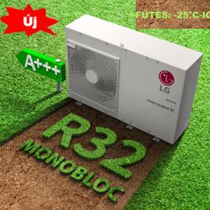 LG Therma-V + ajándék wifi, HM091M.U43, Monoblokkos Levegő-víz Hőszivattyú 9 kW