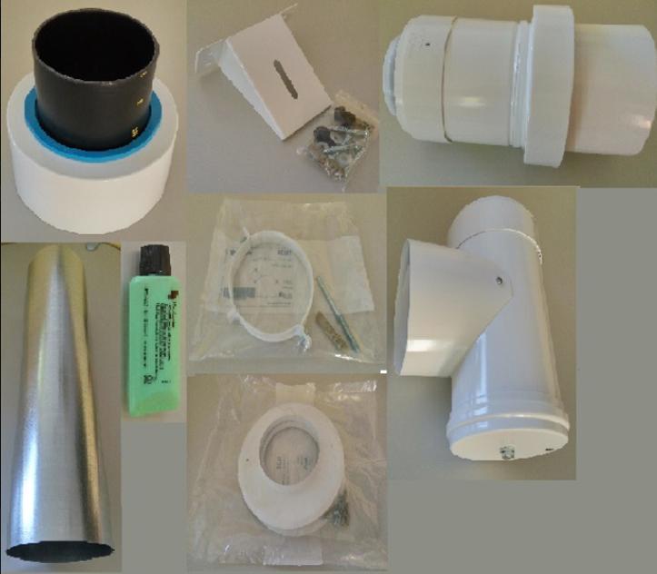 Tricox KULCS05 PPs/Alu külsőfali szerelő csomag