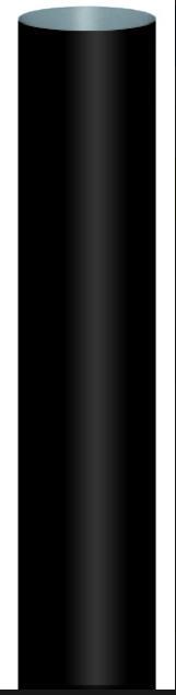 Tricox UV-álló cső kürtő fedélhez 60 mm, hossz 340 mm