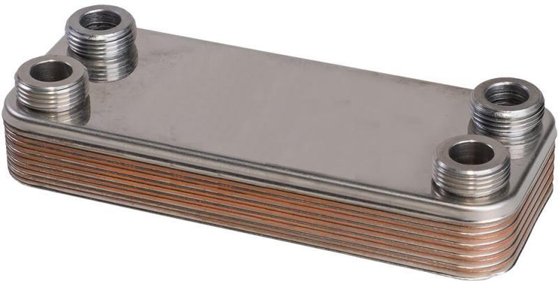 Zilmet FixTrend ZB190-10 forrasztott lemezes hõcserélõ, 10 lemezes, L=190mm, 4x3/4