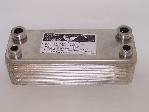 """Zilmet FixTrend ZB190-30 forrasztott lemezes hőcserélő, 30 lemezes, L=190mm, 4x3/4"""""""