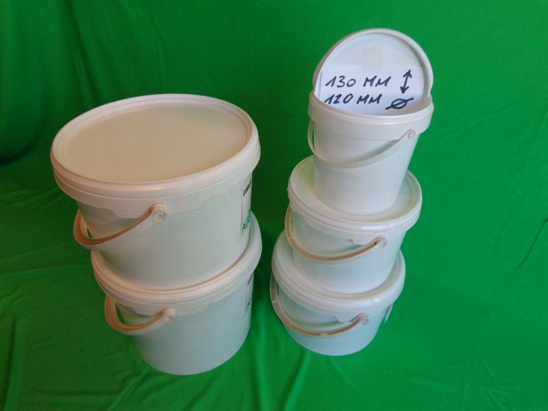 1 literes kerek vödör, vékony falú, jól záródó tetővel Tel:06-20-941-44-44