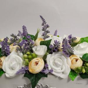 Asztaldísz, virágbox