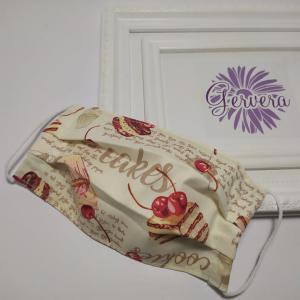 Textil maszk, kétrétegű