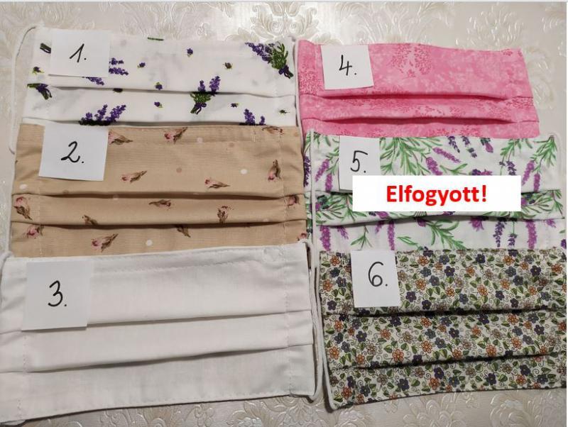 5db textil maszk, választható mintával