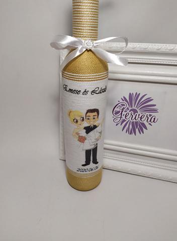 Arany szülőköszöntő pálinkás üveg édesapáknak