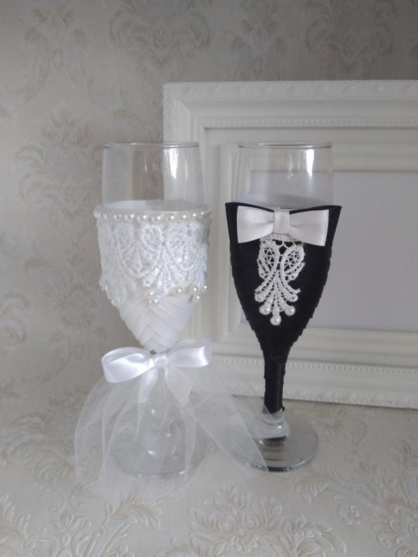 Csipke szerelem, esküvői pohár