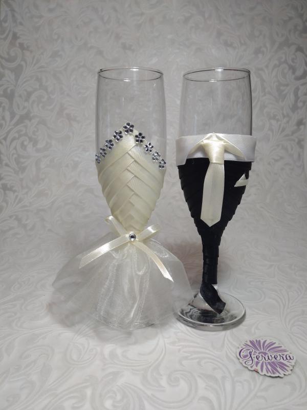 Esküvői pohár, ekrü